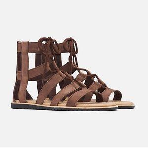 NiB Sorel Bailee LaceUp Leather Gladiator Sandal